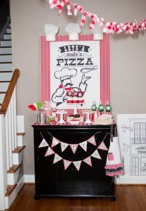Pizzeria Little Chef themed pizza party via Kara's Birthday Party Ideas KarasPartyIdeas.com #little #chef #pizza #pizzeria #themed #boy #party #ideas #cake #idea #printables #supplies #decorations #kids #activities #favors (146)