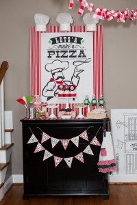 Pizzeria Little Chef themed pizza party via Kara's Birthday Party Ideas KarasPartyIdeas.com #little #chef #pizza #pizzeria #themed #boy #party #ideas #cake #idea #printables #supplies #decorations #kids #activities #favors (132)