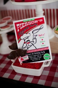Pizzeria Little Chef themed pizza party via Kara's Birthday Party Ideas KarasPartyIdeas.com #little #chef #pizza #pizzeria #themed #boy #party #ideas #cake #idea #printables #supplies #decorations #kids #activities #favors (86)