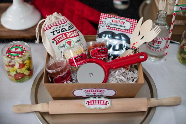 Kara's Party Ideas Pizzeria Little Chef themed pizza party via ...