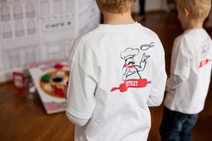 Pizzeria Little Chef themed pizza party via Kara's Birthday Party Ideas KarasPartyIdeas.com #little #chef #pizza #pizzeria #themed #boy #party #ideas #cake #idea #printables #supplies #decorations #kids #activities #favors (52)