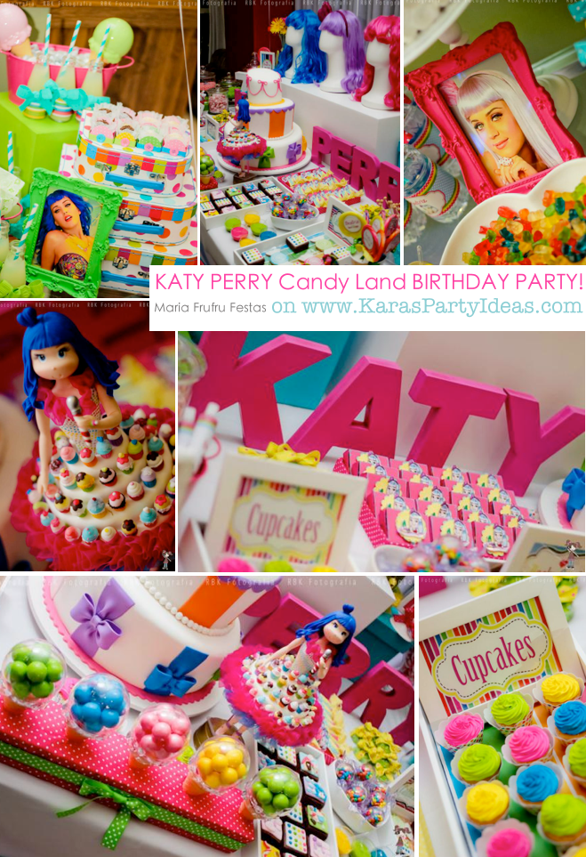 KATY PERRY Candy Land + Sweet Shoppe themed birthday party via Kara's Party Ideas | KarasPartyIdesa.com #katy #perry #candy #land #shoppe #sweet #party #ideas #birthday #cake #decorations #supplies #ideas #cupcakes #favor #idea