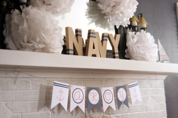 Sailor Girl Nautical Birthday Party via Kara's Party Ideas | KarasPartyIdeas.com #sailor #nautical #girl #navy #party #ideas (24)