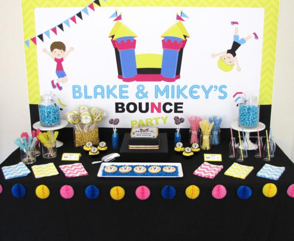 Bounce Party via Kara's Party Ideas | KarasPartyIdeas.com #trampoline #bounce #jump #party #ideas (7)