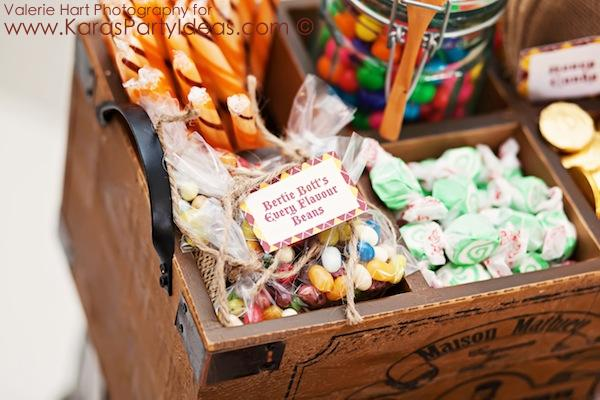 Karas Party Ideas Harry Potter themed birthday party idea via