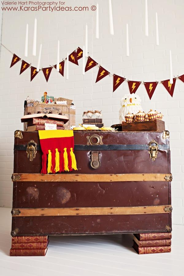 Harry Potter themed birthday party idea via Kara's Party Ideas | KarasPartyIdeas.com #harry #potter #decorations #printables #invitation #party #supplies #idea #cake #cupcakes #activities (67)