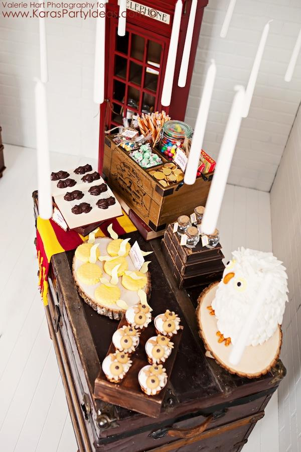 Harry Potter themed birthday party idea via Kara's Party Ideas | KarasPartyIdeas.com #harry #potter #decorations #printables #invitation #party #supplies #idea #cake #cupcakes #activities (66)