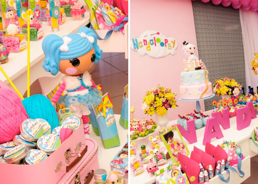 LalaLoopsy themed birthday party via Kara's Party Ideas KarasPartyIdeas.com #lalaloopsy #birthday #party #ideas #cake #supplies #idea #favors #table #dessert (1)
