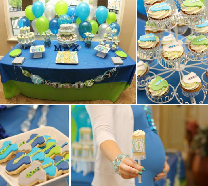 Little Gentelman #Baby #Shower via Kara's #Party #Ideas KarasPartyIdeas.com #man #mustache #tie