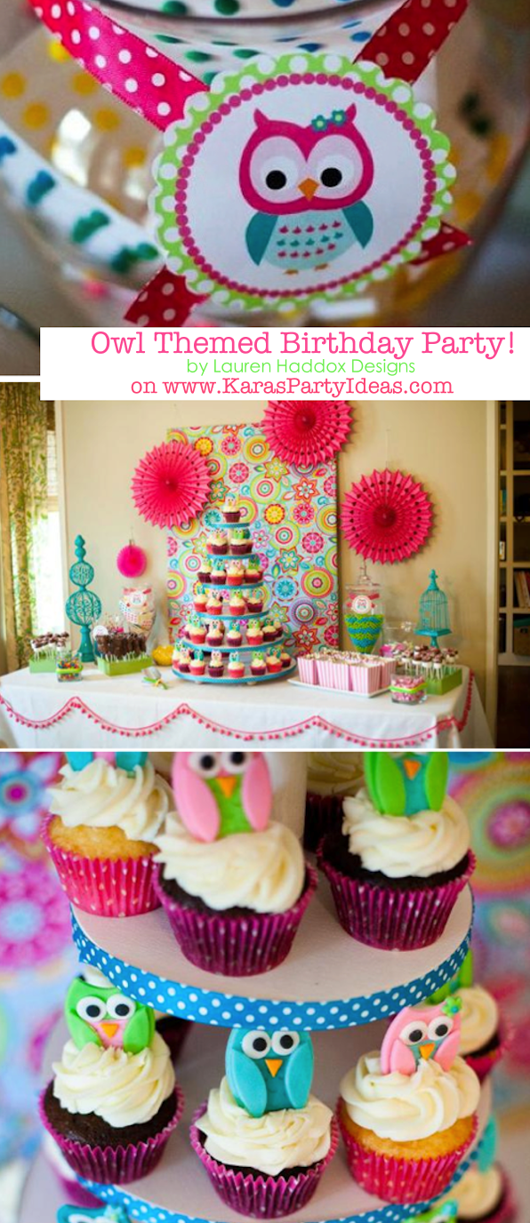 Look Whooos One OWL Themed Birthday Party Via Karas Ideas KarasPartyIdeas Owl
