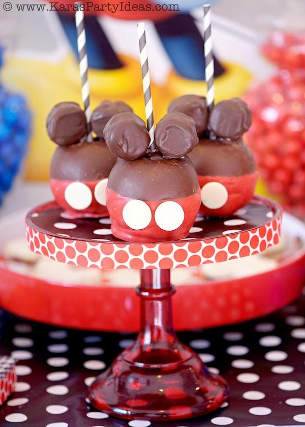 Mickey Mouse Birthday Party via Kara's Party Ideas | KarasPartyIdeas.com #mickey #mouse #cake #favor #decorations #supplies #birthday #party #ideas (12)