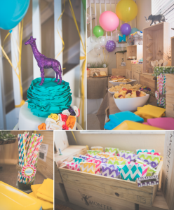 Mod Safari Wild Animal themed birthday party for a girl via Kara's Party Ideas | KarasPartyIdeas.com #modern #animal #wild #safari #jungle #mod #birthday #party #girl #ideas #cake #supplies #decoration #idea (1)
