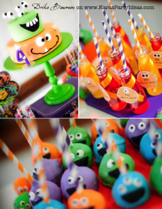 Monster themed birthday party via Kara's Party Ideas | KarasPartyIdeas.com #monster #birthday #party #ideas (1)