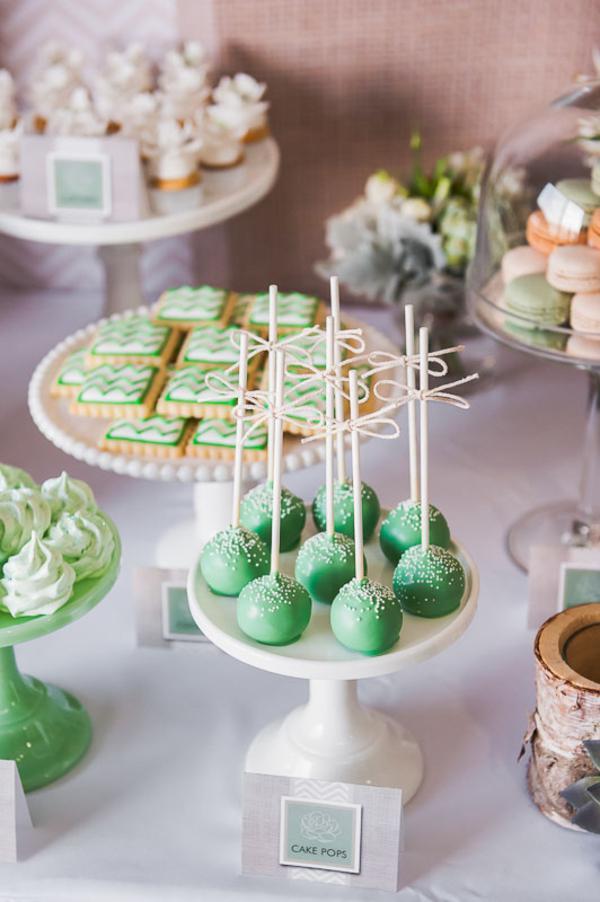 Organic Green 40th Birthday Party Dessert Buffet