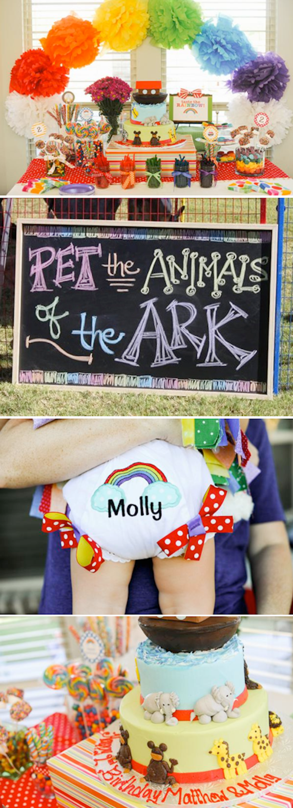 Noah's ark themed birthday party via Kara's Party Ideas KarasPartyIdeas.com #noah's #ark #party #idea #birthday #cake #activities