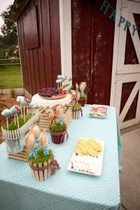 Vintage Barnyard + Kite Party via Kara's Party Ideas | KarasPartyIdeas.com #barnyard #kite #birthday #party (12)
