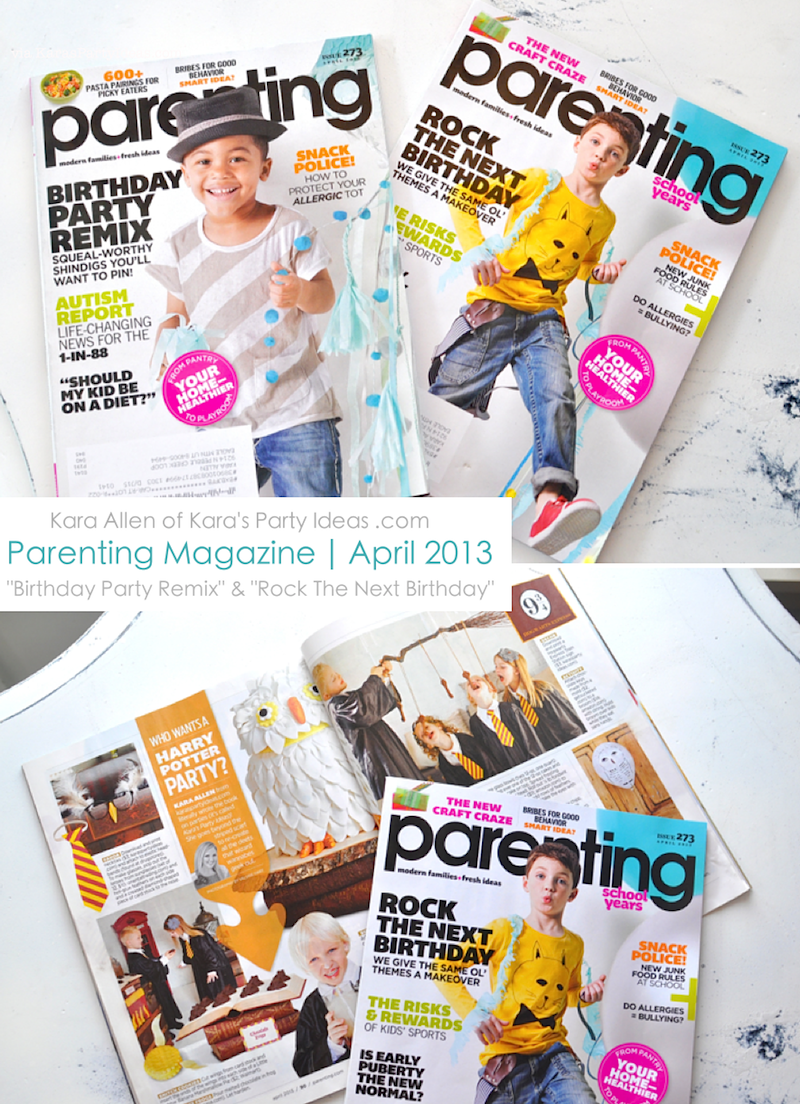 Parenting Magazine April 2013 Harry Potter Birthday Party Ideas via Kara's Party Ideas karaspartyideas.com