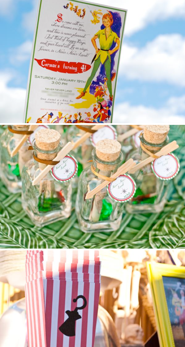 Peter Pan themed birthday party via Kara's Party Ideas | KarasPartyIdeas #peter #pan #pirates #tinkerbell #birthday #cake #party #ideas