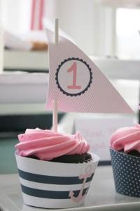 Sailor Girl Nautical Birthday Party via Kara's Party Ideas | KarasPartyIdeas.com #sailor #nautical #girl #navy #party #ideas (19)