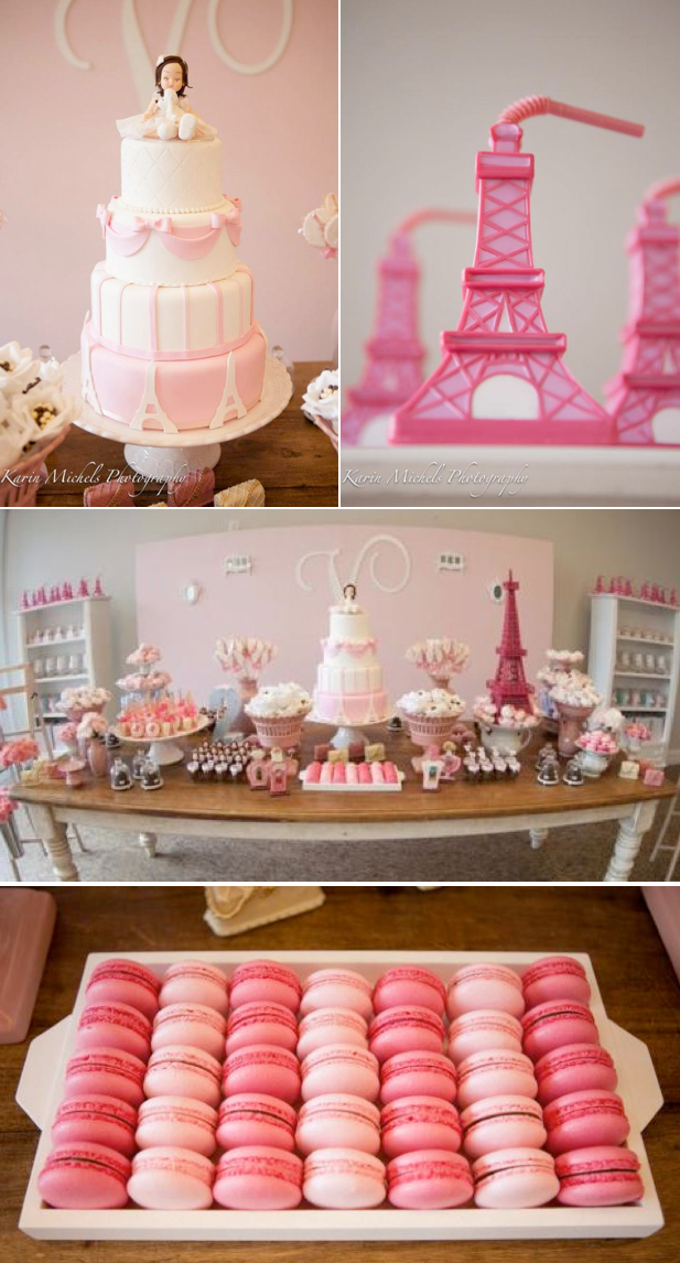 Karas Party Ideas Pink Paris French Girl Birthday Party Planning