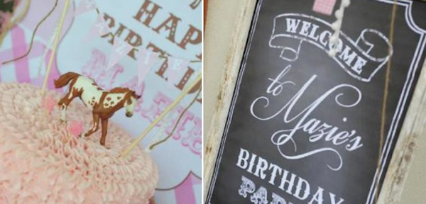 Pink pony themed birthday party via Kara's Party Ideas KarasPartyIdeas.com #pony #horse #birthday #party (1)