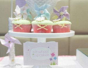 Pinwheel themed birthday party with tons of ideas! Via Kara's Party Ideas KarasPartyIdeas.com #pinwheel #party #girl #birthday #cookies #cake #cupcake #idea #supplies-22