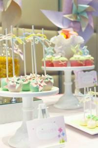 Pinwheel themed birthday party with tons of ideas! Via Kara's Party Ideas KarasPartyIdeas.com #pinwheel #party #girl #birthday #cookies #cake #cupcake #idea #supplies-8