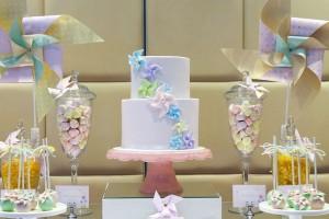 Pinwheel themed birthday party with tons of ideas! Via Kara's Party Ideas KarasPartyIdeas.com #pinwheel #party #girl #birthday #cookies #cake #cupcake #idea #supplies-9