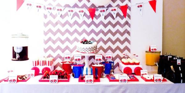 Kara S Party Ideas Car Themed Boy 2nd Birthday Party