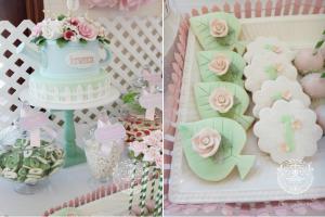 Rose Garden 1st birthday party via Kara's Party Ideas karaspartyideas.com #rose #garden #birthday #party #1st #ideas #cake #cupcakes #idea #supplies