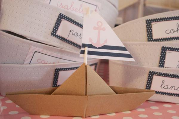 Sailor Girl Nautical Birthday Party via Kara's Party Ideas | KarasPartyIdeas.com #sailor #nautical #girl #navy #party #ideas (15)