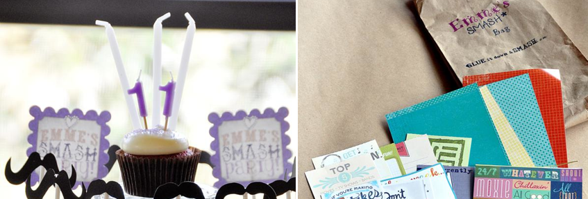 SMASH themed Scrapbooking birthday party via Kara's Party Ideas KarasPartyIdeas.com #scrapbooking #party #ideas #get #together #girls #night #birthday #theme #supplies #shop #idea (1)
