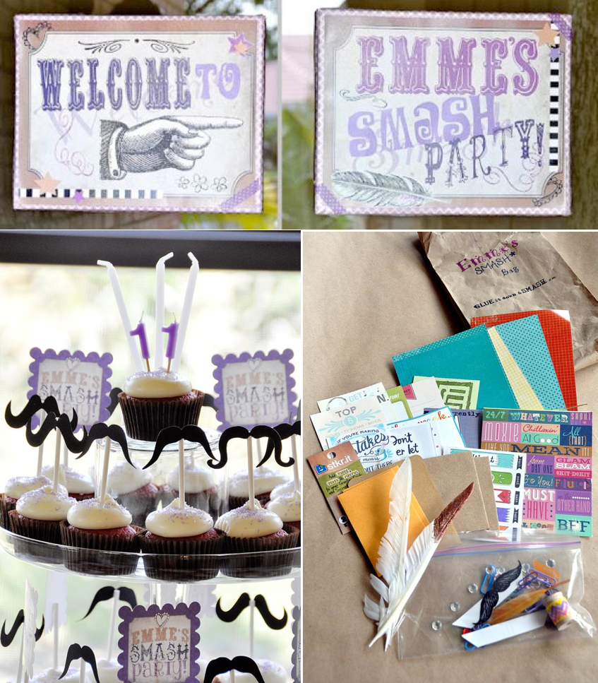 Karas Party Ideas Smash Scrapbooking Themed Birthday Party