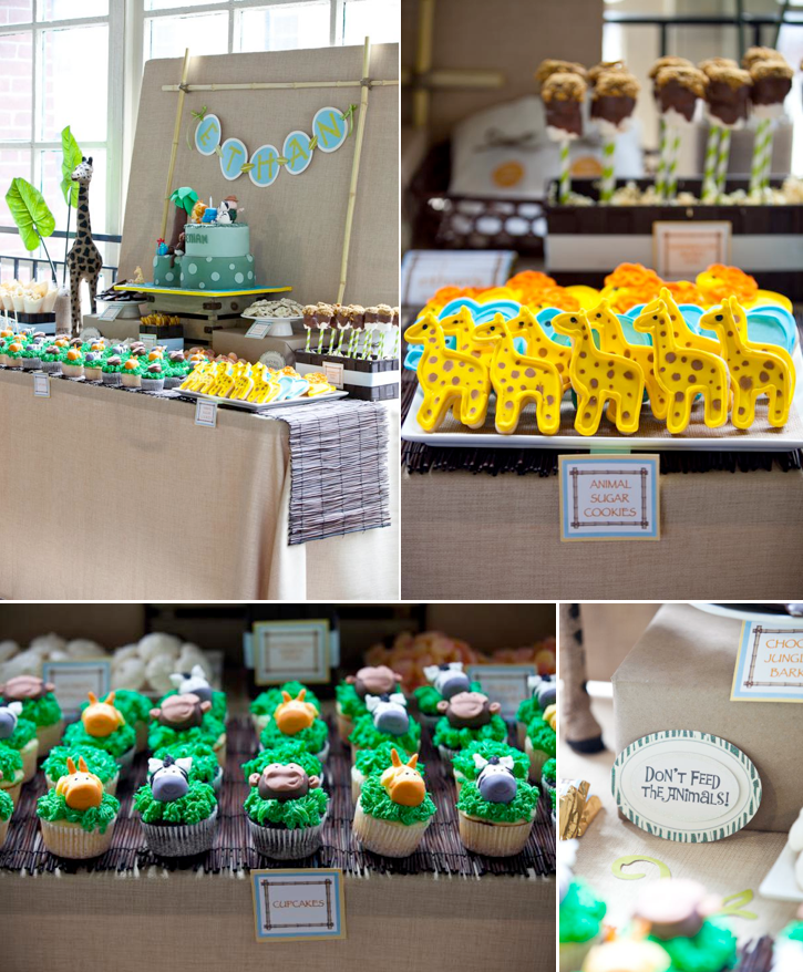 Wild One Animal Jungle themed birthday party via Kara's Party Ideas ...