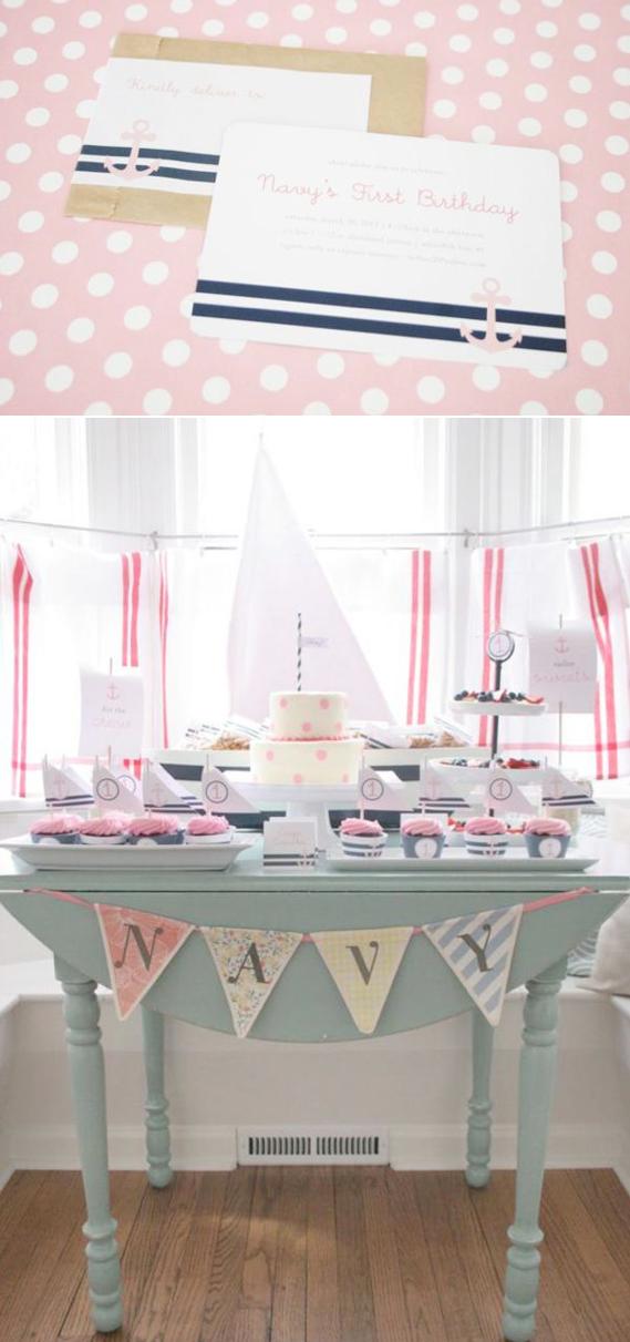Sailor Girl Nautical Themed Birthday Party Via Karas Ideas KarasPartyIdeas