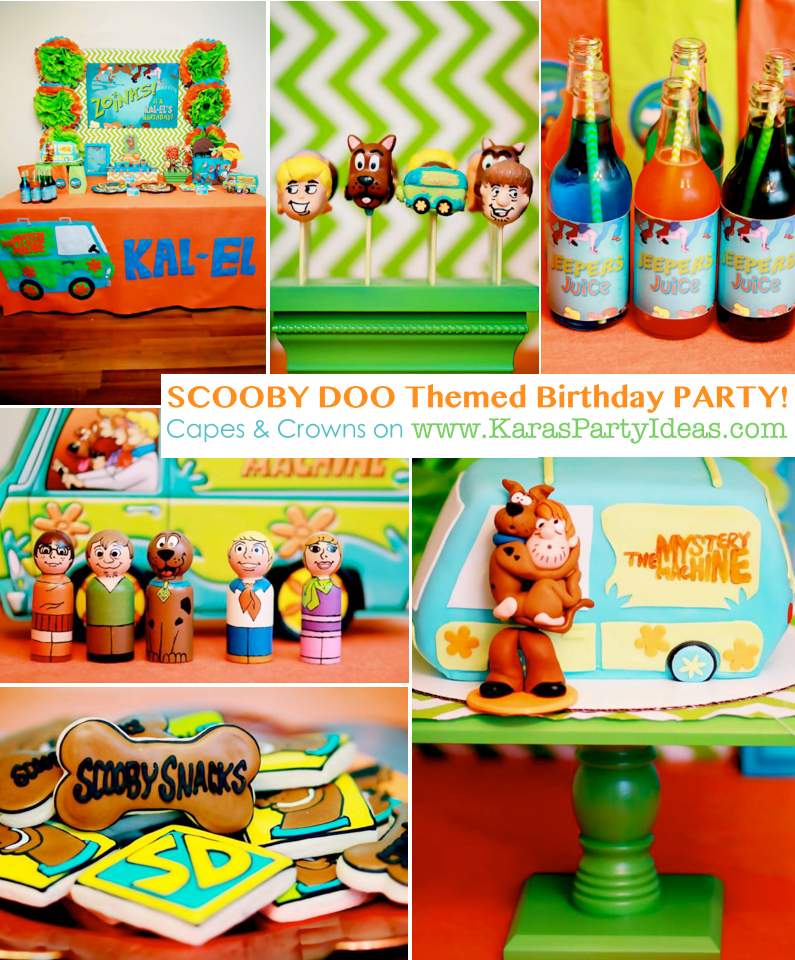 Scooby Doo themed birthday party via Kara's Party Ideas | KarasPartyIdeas.com #scooby #doo #themed #birthday #party #ideas #cake #decorations #supplies #favors #cupcake #idea