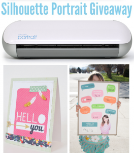 Silhouette portrait giveaway promo discount code via Kara's Party Ideas KarasPartyIdeas.com