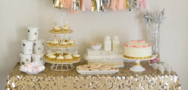 Sparkle & Shine themed birthday party via Kara's Party Ideas | KarasPartyIdeas.com #sparkle #shine #birthday #party #theme #girl #idea #cake #ideas #anthropologie (1)