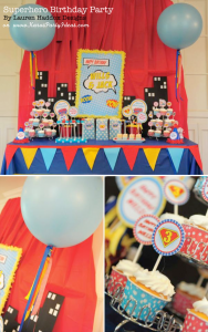 #Superhero #Birthday Party via Kara's #Party #Ideas KarasPartyIdeas.com