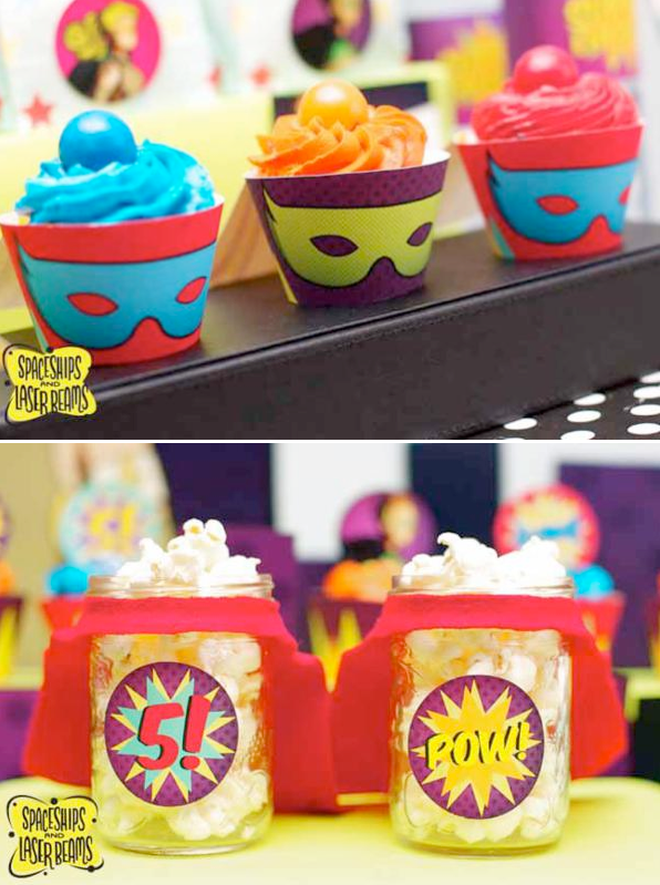 Superhero birthday party via Kara's Party Ideas KarasPartyIdeas.com