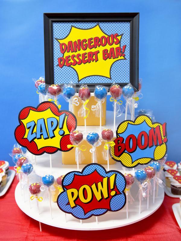 Marvel Superhero Cake Pops