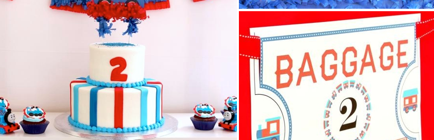 Thoms the Train themed birthday party via Kara's Party Ideas | KarasPartyIdeas.com #thomas #train #themed #birthday #party #planning #ideas #cake #cupcakes #idea