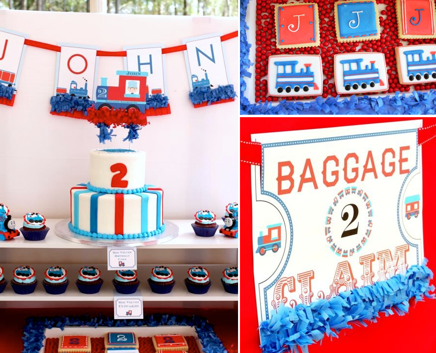 Karas Party Ideas Thomas Train Boy Cake 2nd Birthday Party Planning