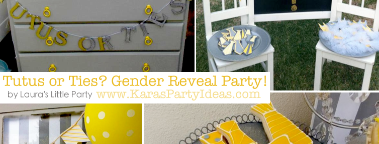 Tutus or Ties? Gender Reveal Party! Via Kara's Party Ideas KarasPartyIdeas.com #baby #shower #gender #reveal #ideas #party #tutus #ties #boy #girl #idea (1)