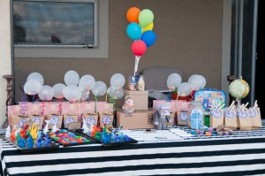 Disney's UP themed birthday party via Kara's Party Ideas | KarasPartyIdeas.com #up #themed #birthday #party #planning #ideas #cake #disney #decor #supplies #shop #idea (174)