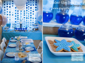 Under the Sea tween themed birthday party via Kara's Party Ideas | KarasPartyIdeas.com (1)