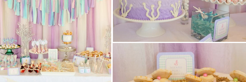 Whimsical Mermaid Birthday Party via Kara's Party Ideas | KarasPartyIdeas.com #mermaid #birthday #party #ideas #cake #supplies (1)