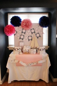 Sailor Girl Nautical Birthday Party via Kara's Party Ideas | KarasPartyIdeas.com #sailor #nautical #girl #navy #party #ideas (39)
