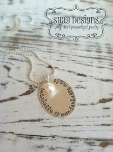GIVEAWAY $100 in Custom Jewelry by Shay Designs on Kara's Party Ideas | KarasPartyIdesa.com #jewelry #stamped #giveaway (15)