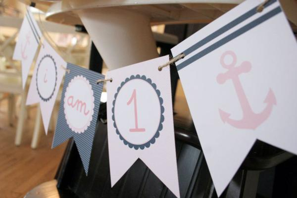 Sailor Girl Nautical Birthday Party via Kara's Party Ideas | KarasPartyIdeas.com #sailor #nautical #girl #navy #party #ideas (29)